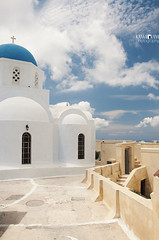 29 Pyrgos, Santorini/Thira (kana movana) Tags: santorini thira island pyrgos village greece greek traditional style architecture aegean aegeo mediterranean cyclades cycladic church orthodox white town blue europe travel vacation journey holiday townscape cityscape d90