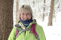 Mary in the snow (Mary&Neil) Tags: elements snow walking hiking mary iphone8plus