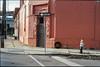 7th Ward, New Orleans (ADMurr) Tags: nola new orleans friday evening north robertson street sidewalk one way hydrant doorway corner tire leica m6 kodak ektar 50mm dab116 st bernards