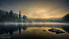 Caumasee (Dani Maier) Tags: bergsee ort sonnenaufgang wetter flims graubünden caumasee nebel