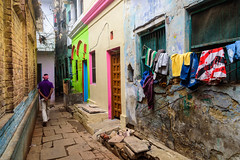 Alleys of Varanasi (Maulindu Chatterjee) Tags: varanasi street alley gali galli color old india benaras places walk