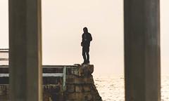 Hombre (matthew:D) Tags: water man beach ocean pillars sandiego hombre