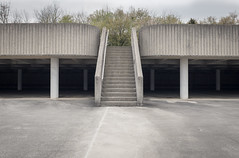 Civic Coliseum (Casey Fox) Tags: parkinggarage stairs concrete brutalist brutalism knoxville tennessee architecture