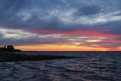 Sunset on the Pamlico Sound (nehall) Tags: sunsets hatterassunsets pamlicosound hatterasisland obx outerbanks clouds