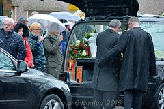 Putting flowers in back of car outside Sir Kens house (James O'Hanlon) Tags: sir ken dodd sirkendodd kendodd funeral cathedral anglican liverpool liverpoolcathedral anglicancathedral stars knotty ash knottyash squire legend comedy