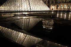 Paris at night (felixkolbitz) Tags: paris france night city louvre eiffel tower eiffeltower pyramid architecture seine reflection canoneos6d canon canon6d cityscape river travel holidays vacation winter