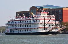The Georgia Queen. Port of Savannah, GA (bobchesarek) Tags: riverboat georgiaqueen dinnercruise