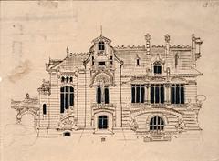 Hector Guimard, la naissance du style (Musée d'Orsay, Paris) (dalbera) Tags: artnouveau hectorguimard muséedorsay dalbera paris france villa dessin