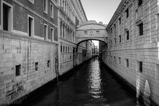 Venetian Canal Scene - 'The Bridge of Sighs'