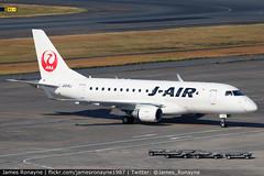 JA215J   Embraer 170   J-Air (james.ronayne) Tags: ja215j embraer 170 jair e170 jal jl aeroplane airplane plane aircraft jet jetliner airliner aviation flight flying tokyo haneda hnd rjaa canon 80d 100400mm raw
