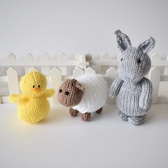 Easter toys (Knitting patterns by Amanda Berry) Tags: knitting knits knitted knitters knit toys toy easter bunny rabbit bunnies chick chicks chicken sheep lamb lambs handmade crafts craft crafting makers making make hand amanda berry lets dk yarn