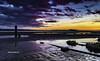 Llanelli sunset (stevenbailey7) Tags: new landscape seascape sand reflection light equinox spring seaside blue water nature weather clouds sea dusk colour nikon groynes