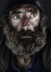Feeling alone (Ales Dusa) Tags: portrait face streetportrait man outdoor colorportrait alesdusa beardedman beard human sadman humanity people cap feelingalone canoneos5dmarkii ef50mmf18stm closeupportrait streetshot