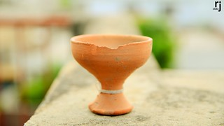Chipped Clay Pot
