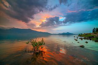 _U1H0092-0516 Sunset at Langco Lagoon,Hue