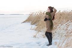 Jenni (petrinieminen1) Tags: oritkari oulu brunette winter woman model beautiful photoshoot portrait sea ice hair tfcd nikon sky curvy