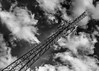 The Strange View (that_damn_duck) Tags: nikon blackwhite monochrome cloud clouds tower pointofview sky bw blackandwhite