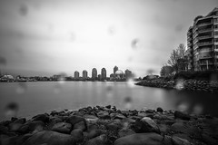 April 13, 2018. (Amanda Catching) Tags: today longexposure light city skyline vancouver false creek rain