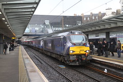 68006 EDINBURGH HAYMARKET 090418 (David Beardmore) Tags: 68006 scotrail vossloh eurolight class68 dieselengine dieselelectric diesellocomotive directrailservices drs