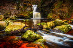 Still Falls (Augmented Reality Images (Getty Contributor)) Tags: longexposure scotland water landscape waterfall morayshire forest linnfalls trees speyside nature canon nisifilters aberlour rocks unitedkingdom gb