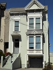 San Francisco, CA, Noe Valley, Victorian House (Mary Warren 13.5+ Million Views) Tags: sanfranciscoca noevalley architecture building house residence victorian stairs garage bowwindows