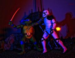 Turtle Power (Parody Story in Description) (BrickSev) Tags: star wars bandai ninjaturtles toy photography