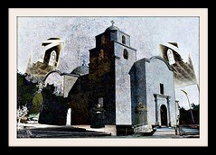 Brothers in Psalms (Bill Eiffert) Tags: church mexico brothers priests architecture surreal