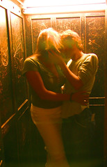 Ecstasy (est0al) Tags: wood light love kiss couple lift elevator passion ecstasy sensuality