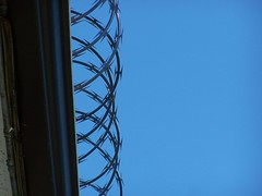 razor wire (eightprime) Tags: blue ominous creativecommons