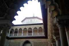 Interior del Alcazar de Sevilla (juandesant) Tags: architecture sevilla arquitectura arch palace seville arab dome andalusia arco andalucia alcazar cupula arabe