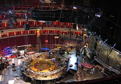 Setting up in the Royal Albert Hall (Pat Rioux) Tags: london royalalberthall theater stage technical setup cirquedusoleil dralion