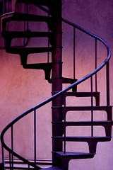 Curl your way up (randalltower605) Tags: up bronze way spiral stair purple step staircase usc curl curve