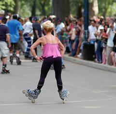 8 Wheels (aka Heels) (luzer) Tags: nyc centralpark skaters 85mmf18