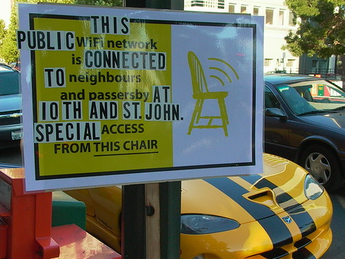 sign for the downtown yellow chair