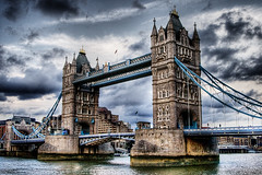 Tower Bridge (Simon Crubellier) Tags: uk bridge england sky london tower water thames clouds towerbridge canon river eos europe hdr eos20d simoncrubellier interestingness23 i500 abigfave