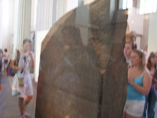 rosetta stone egyptian hieroglyphics. Rosetta Stone (if a bit blurry