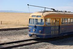 Muni 1003 Riding the Rails (skew-t) Tags: muni transit fav 1003 pcc blueandgold westernrailwaymuseum wrm