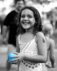 Blue (3rd foundation) Tags: blue water girl smile canon balloon desaturation laughter desat 50v5f naturallightkids bokehphotooftheday 3rdfoundation bokehsoniceaugust bokehsoniceaugust23