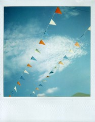 ...bunting (the3robbers) Tags: sky polaroid cardiff flags bunting the3robbers