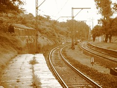 Sepia filter gives a vintage look to Khopoli Station (Mezzotint) Tags: top tunnel khandala