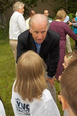 Senator Joe Biden talking to Addy