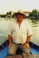 fisherman (andrichrose) Tags: portrait film valencia hat fisherman spain retrato cigar espana ricefields boatman alberfera camposino