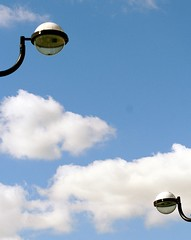 two .. (areyarey) Tags: london lamp streetlamps lamppost lonely isleofdogs minimilism areyarey