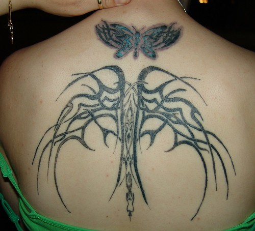 tribal tattoo butterfly. tattoo Sidebody Butterfly