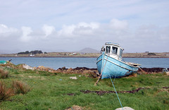 Roundstone Harbour (Patrick Costello) Tags: ireland galway d50 boat harbour eire connemara roundstone top20ireland