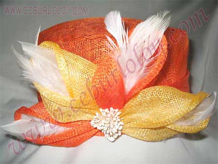 Sinamay ladies hat (Aladdin)