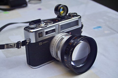 Yashica Electro 35 GS with tele lens by bart_, on Flickr