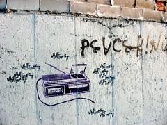 What time is it (Nate Dorr) Tags: streetart ny newyork alarm brooklyn graffiti stencil time clocks bushwick peaceking