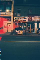 Close out sale (Jape Wisteria) Tags: toronto night streetscene canonet fourthroll