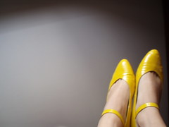 lonely... (*iloveshoes*) Tags: shoes zapatos yellowmaryjanes